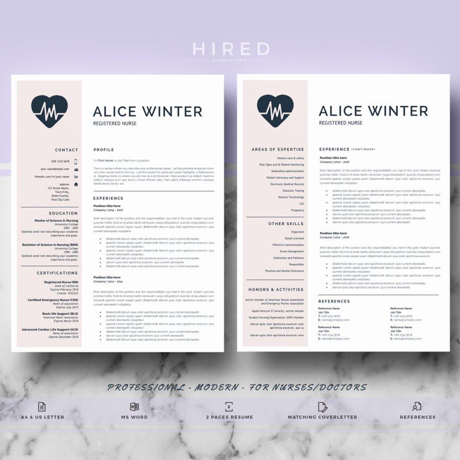 Nurse Resume Template Word Beautiful Nurse Template Archivos Hired Design Studio