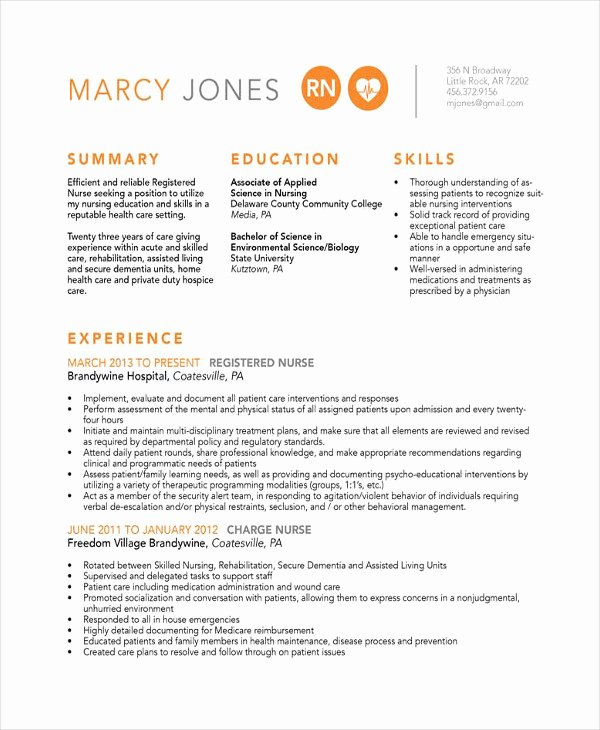 Nurse Resume Template Word Best Of 16 Nurse Resume Templates Free Word Pdf Documents