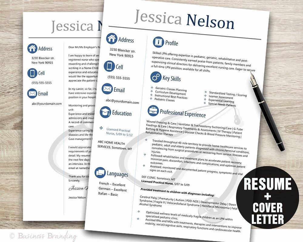 Nurse Resume Template Word Elegant Medical Resume Templateinstant Download Medical Resumeresume