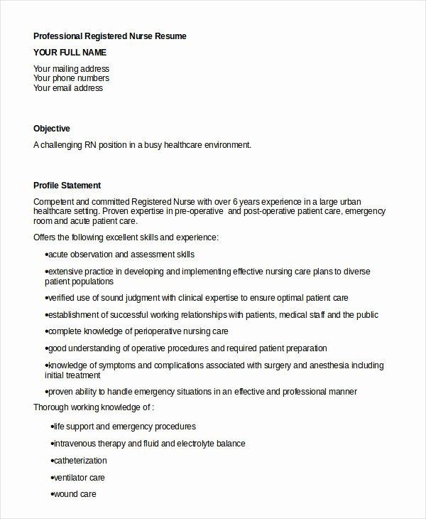 Nurse Resume Template Word Inspirational 16 Nurse Resume Templates Free Word Pdf Documents