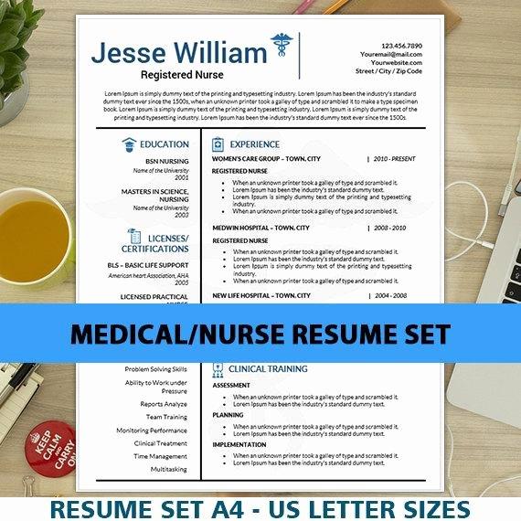 Nurse Resume Template Word New Nursing Resume Template for Ms Word Cover Letter Nurse