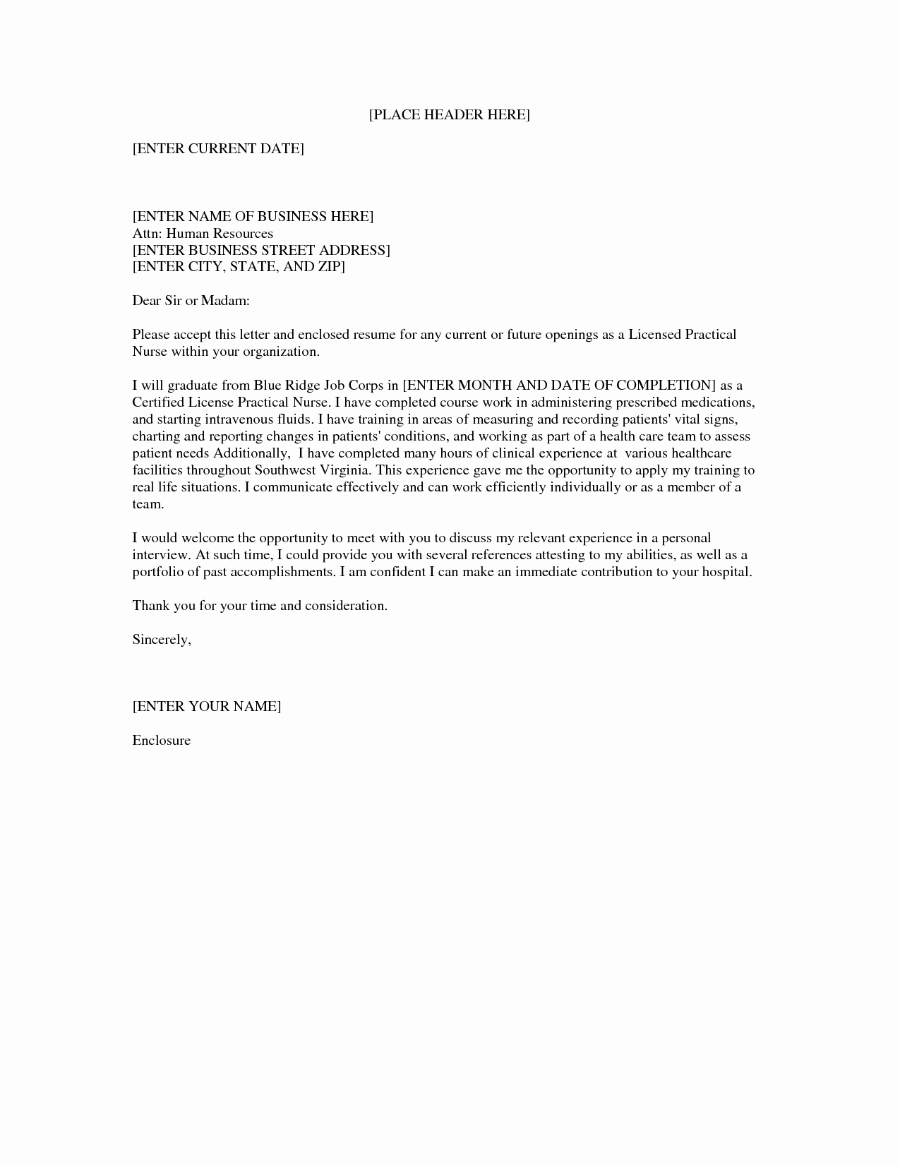 Nurses Cover Letter Template Elegant Lpn Nursing Cover Letter Sample