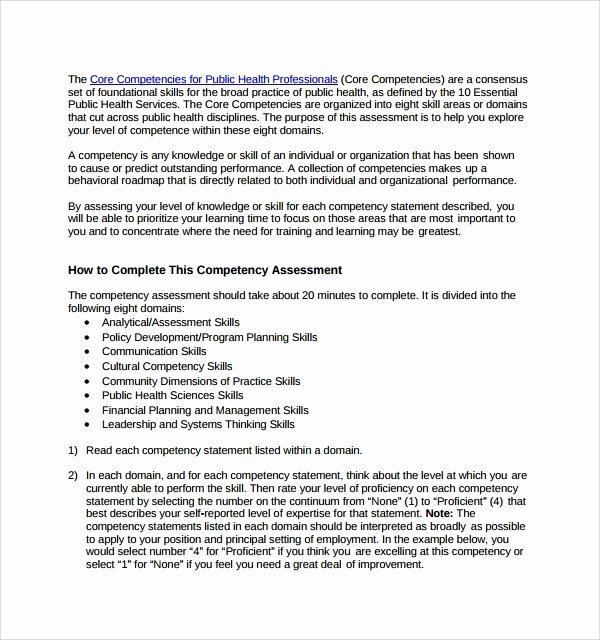 Nursing Competency assessment Template Beautiful 7 Petency assessment Templates