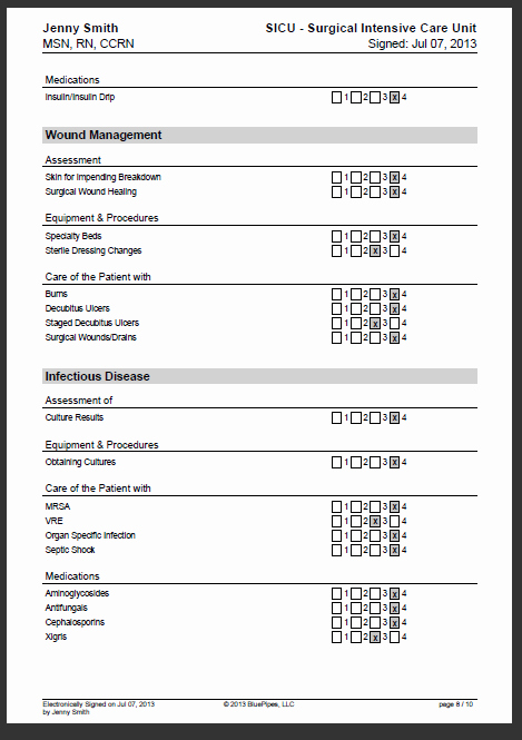 Nursing Competency assessment Template Fresh 27 Of Checklist Template for Nursing Homes