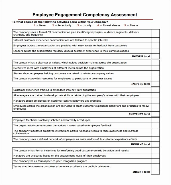 petency assessment template