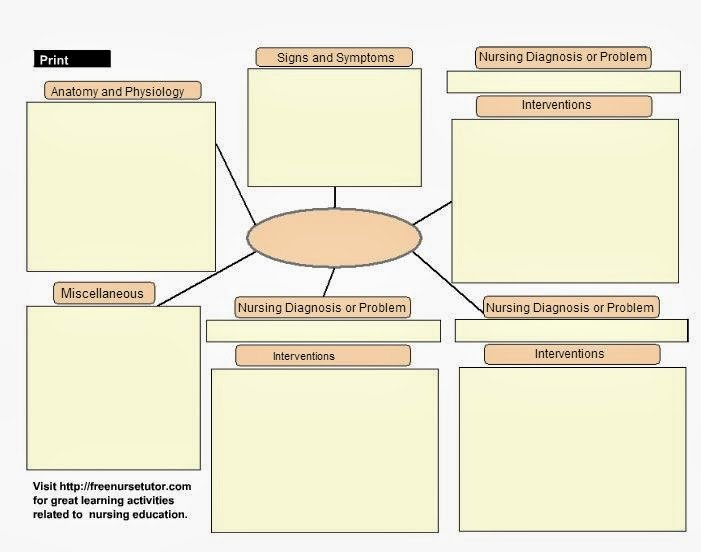 Nursing Concept Mapping Template Best Of Template Gallery Page 4