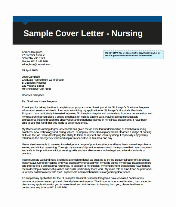 Nursing Cover Letter Template Luxury 17 Professional Cover Letter Templates Free Sample