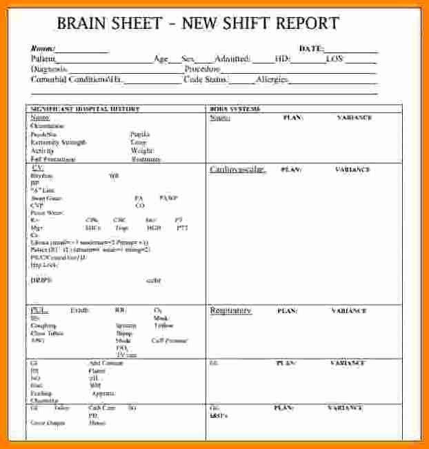 Nursing Shift Report Template Beautiful 10 Shift Report Template