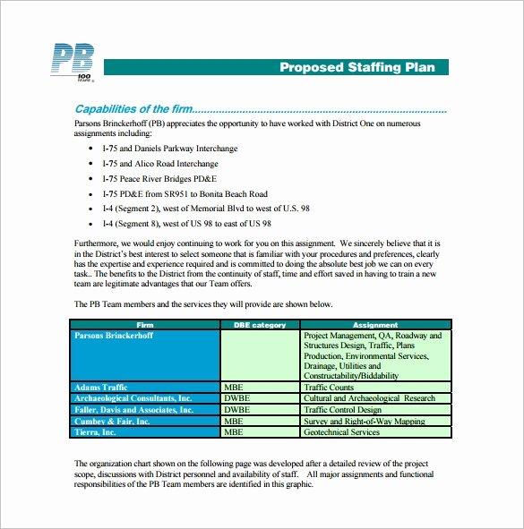 Nursing Staffing Plan Template Beautiful 12 Staffing Plan Templates – Free Sample Example format