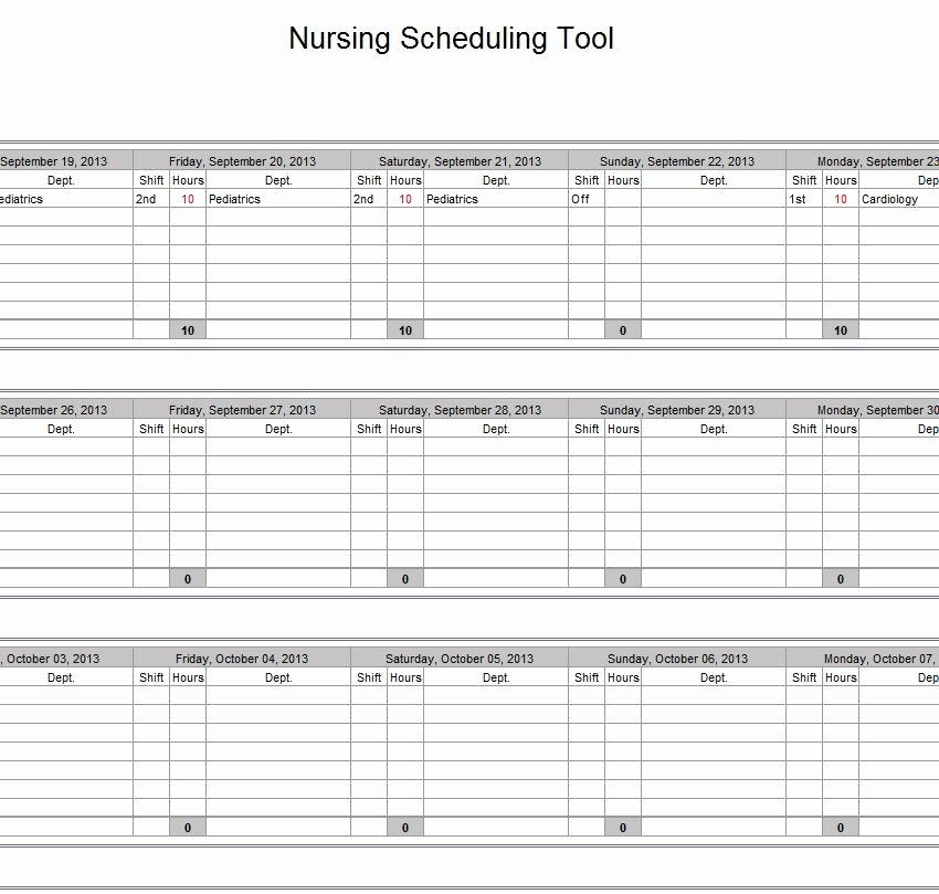 Nursing Staffing Plan Template Best Of Hospital Nurse Schedule Excel Template