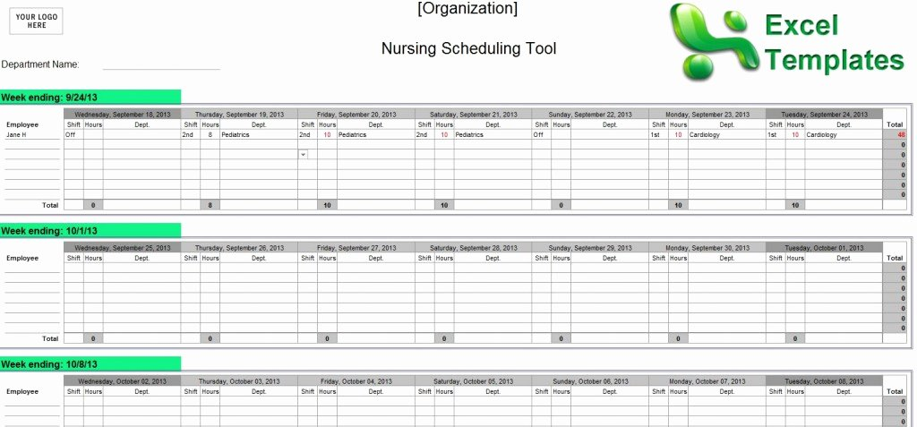 Nursing Staffing Plan Template Elegant Nursing Staff Schedule Template