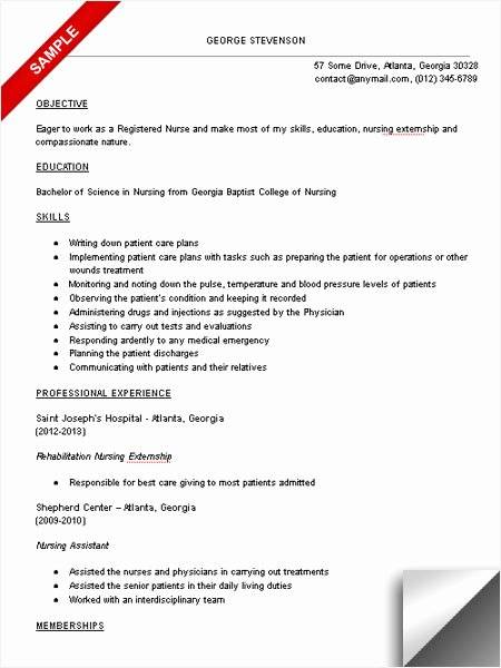 Nursing Student Resume Template Beautiful Nursing Student Resume Sample