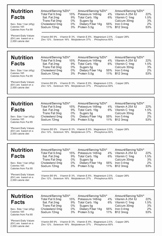 Nutrition Facts Label Template Awesome Nutrition Label Template Download