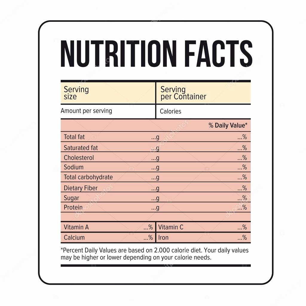 Nutrition Facts Label Template Beautiful Nutrition Facts Label Template Vector Nutrition Ftempo