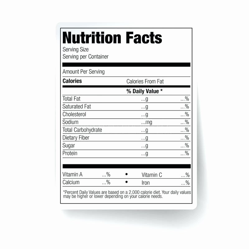 Nutrition Facts Label Template Best Of Download Nutrition Facts Information Label for Cereal Box