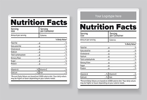 Nutrition Facts Label Template Lovely Editable Nutrition Label