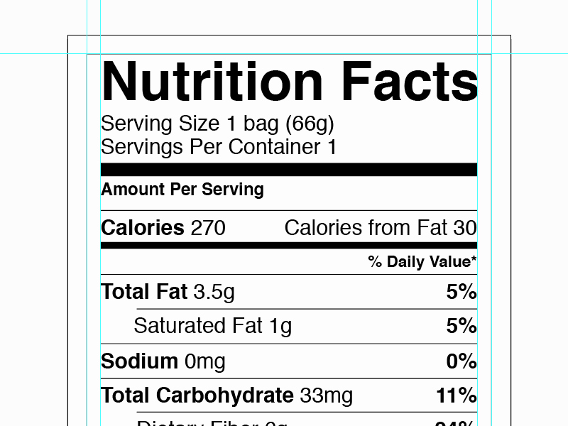 Nutrition Facts Label Template Luxury Vector Nutrition Facts Label by Greg Shuster