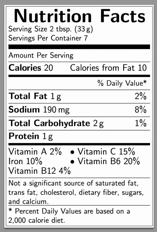 Nutrition Facts Label Template New Nutritional Label Template Nutrition Ftempo