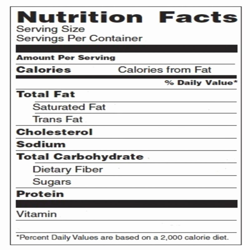 Nutrition Facts Label Template Unique Blank Nutrition Label Template Word