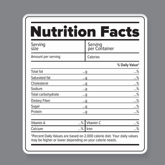 Nutrition Facts Template Word Best Of Printable Blank Nutrition Label – Nutrition Ftempo