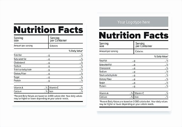 Nutrition Facts Template Word Elegant Blank Nutrition Label Template Word Fresh Free Pay Stub
