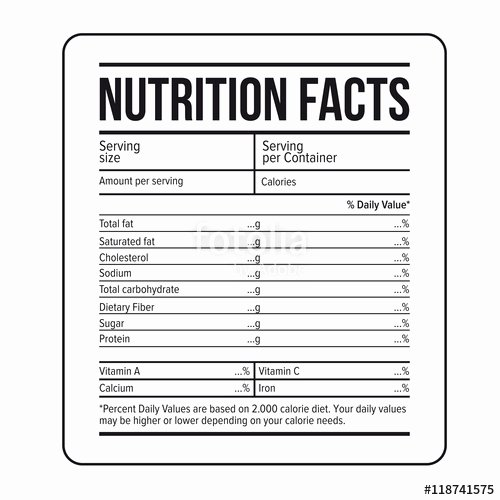 Nutrition Facts Template Word Unique Nutrition Fact Labels Template Nutrition Ftempo