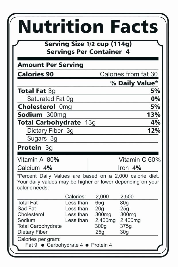 Nutrition Label Template Excel Awesome Nutrition Fact Template Excel Nutrition Ftempo