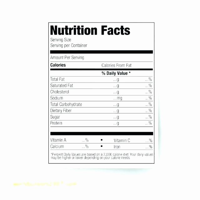 Nutrition Label Template Excel Best Of Vector Nutrition Facts Food Table Label Design Template