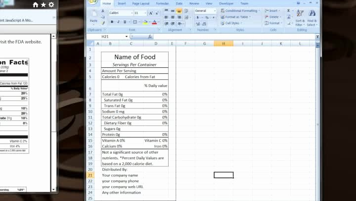 Nutrition Label Template Excel Elegant How to Make Your Own Excel Template for Nutrition Facts