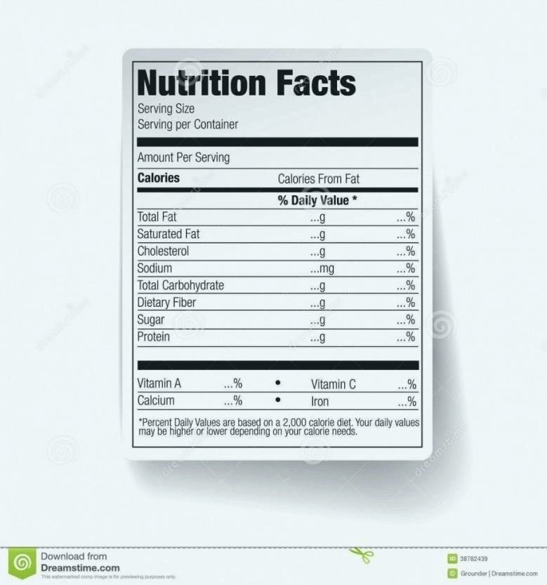 Nutrition Label Template Free Awesome Nutrition Label Worksheet Best Blank Nutrition Label