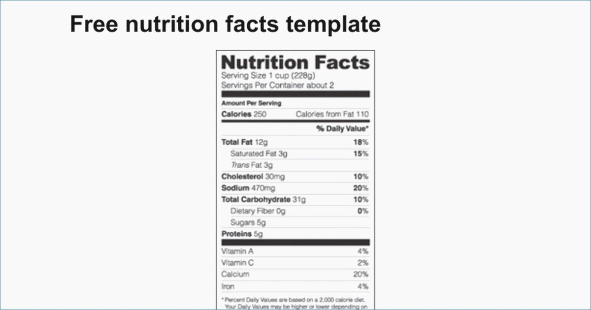 Nutrition Label Template Free Best Of Free Nutrition Label Template – Harddancefo
