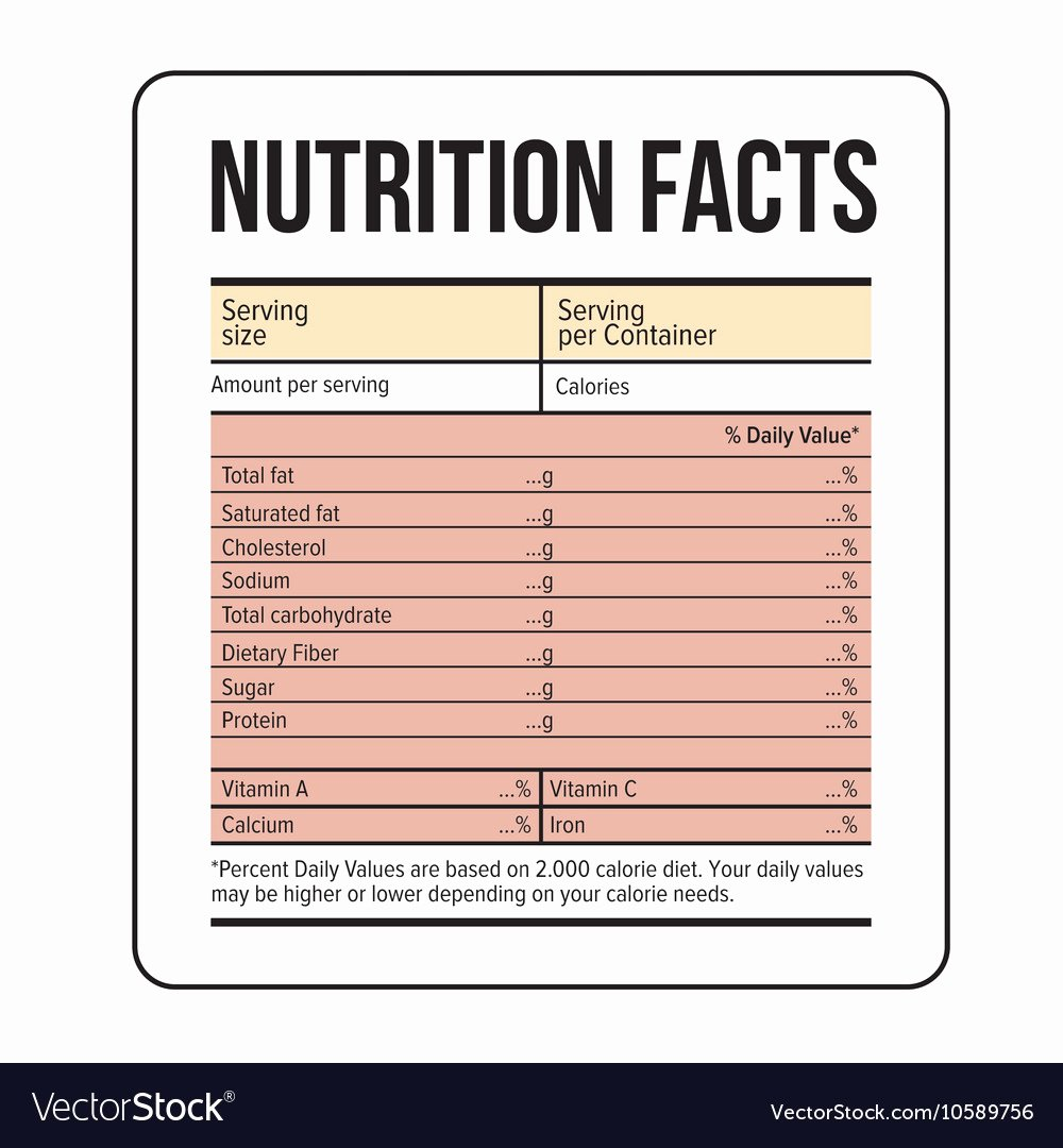 Nutrition Label Template Free Best Of Great Nutrition Facts Label Template S Ingre Nt