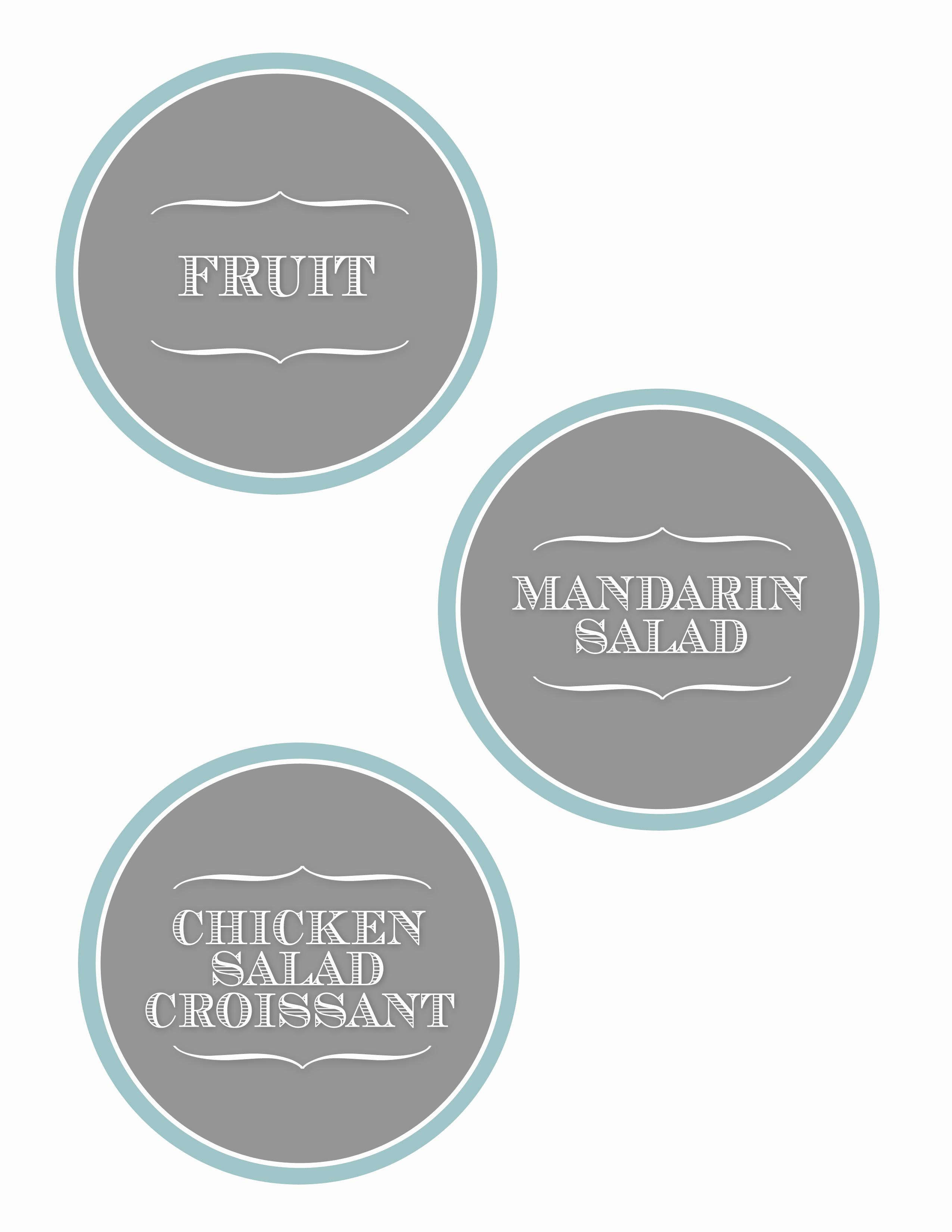food label printable