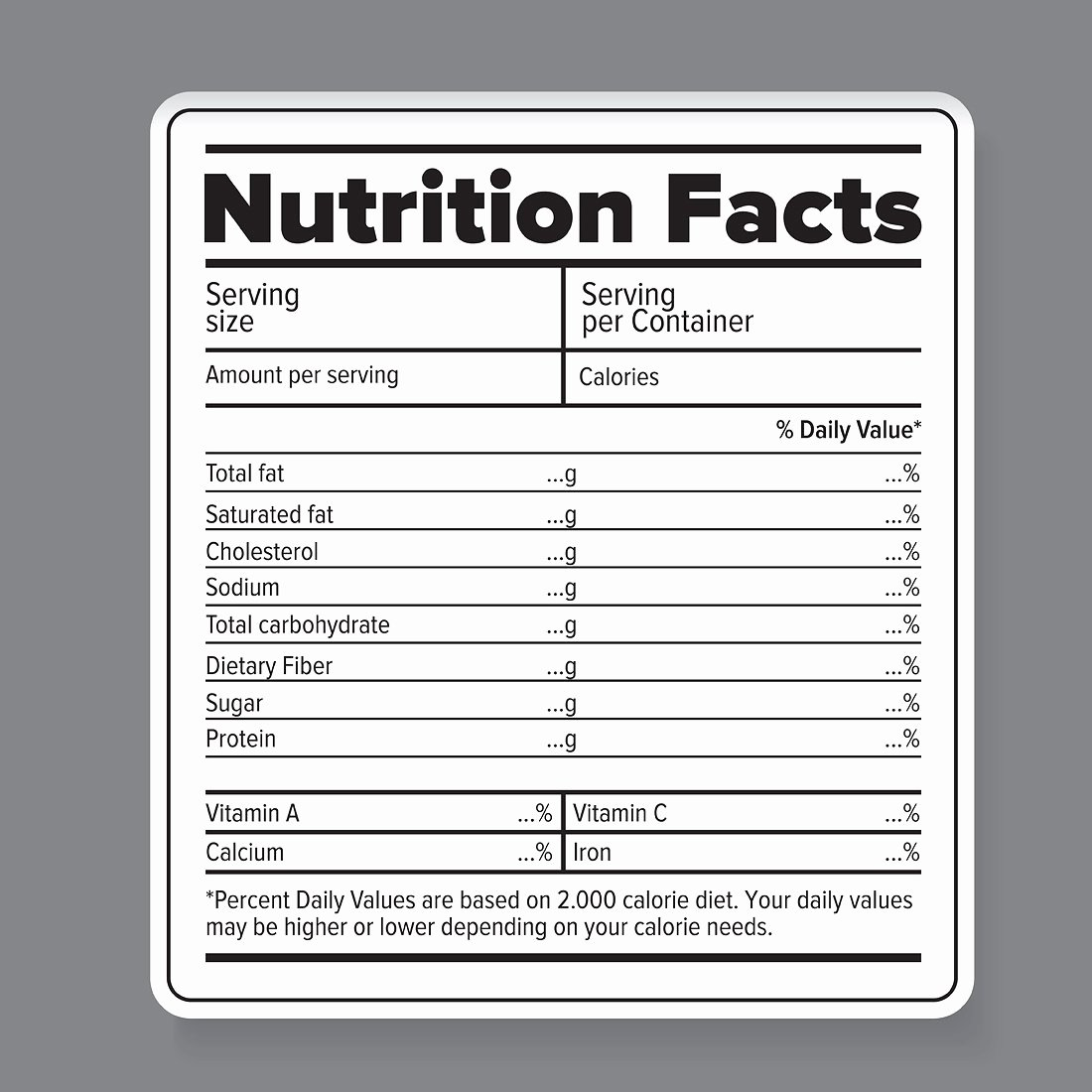 Nutrition Label Template Free Inspirational Nutrition Facts Vector Label Graphic Objects Creative