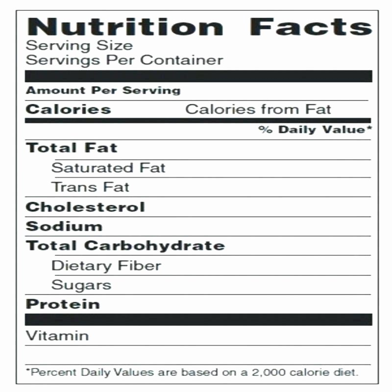 Nutrition Label Template Free Lovely Food Label Template Nutrition Facts Label Template New