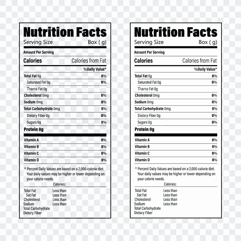 Nutrition Label Template Free Luxury Download Nutrition Facts Information Label for Cereal Box