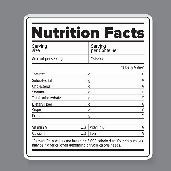 Nutrition Label Template Free Luxury Nutrition Facts Label Template