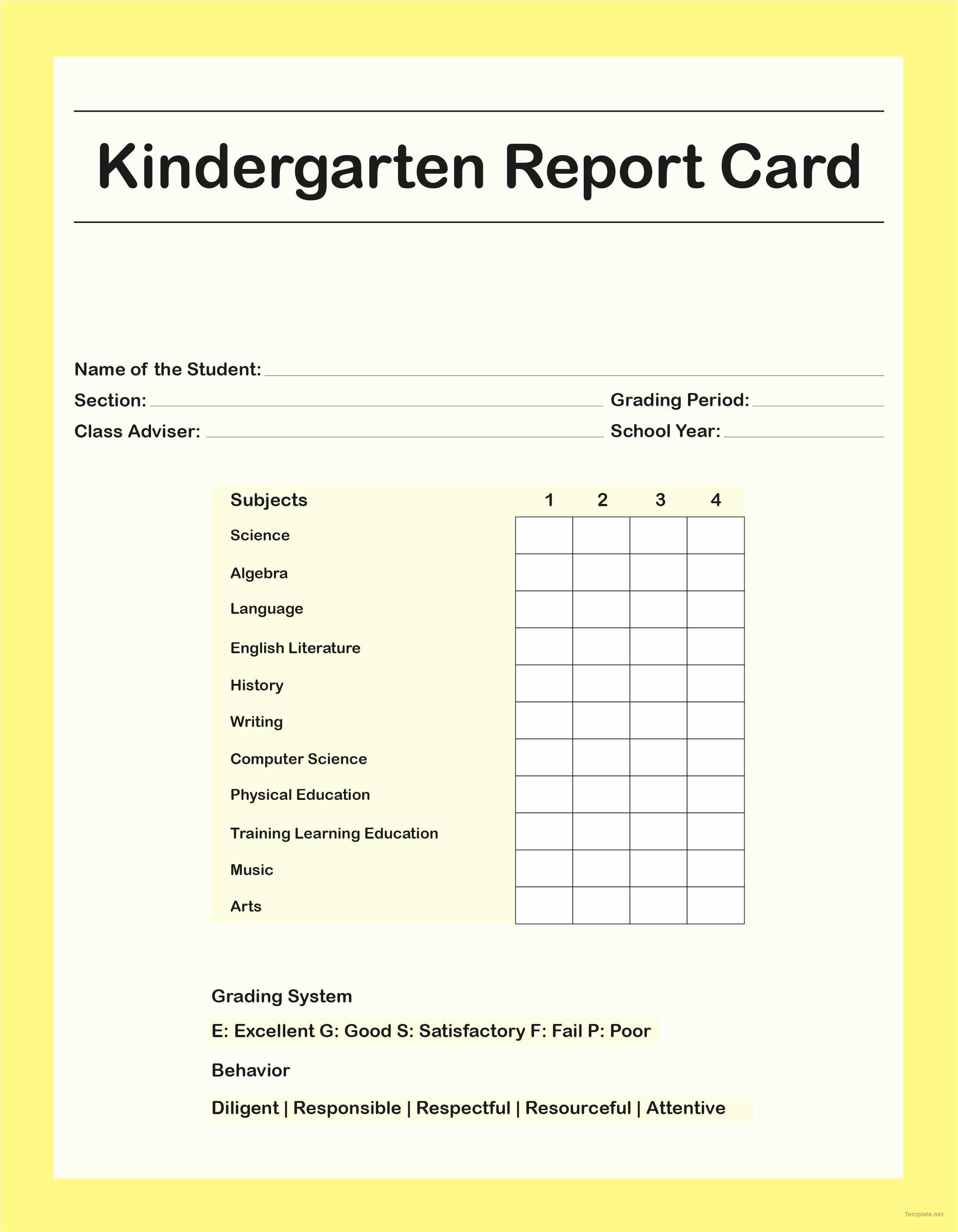 Nyc Report Card Template Best Of Homeschool Report Card Template Middle School Best Samples