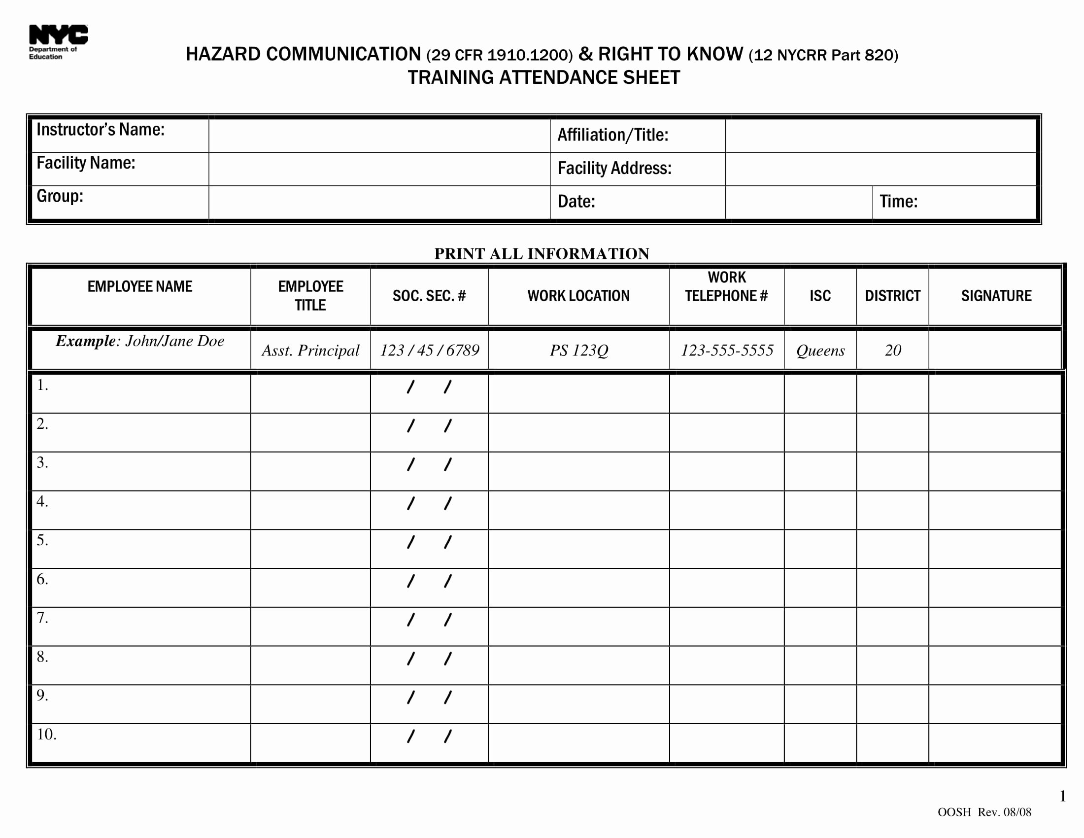 Nyc Report Card Template Inspirational 10 Printable attendance Sheet Examples Pdf Word