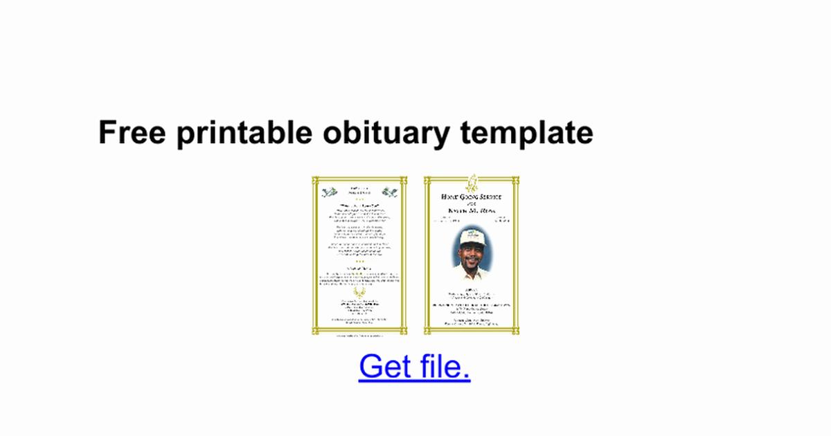 Obituary Template Google Docs Elegant Obituary Template Google Docs Beautiful Template Design