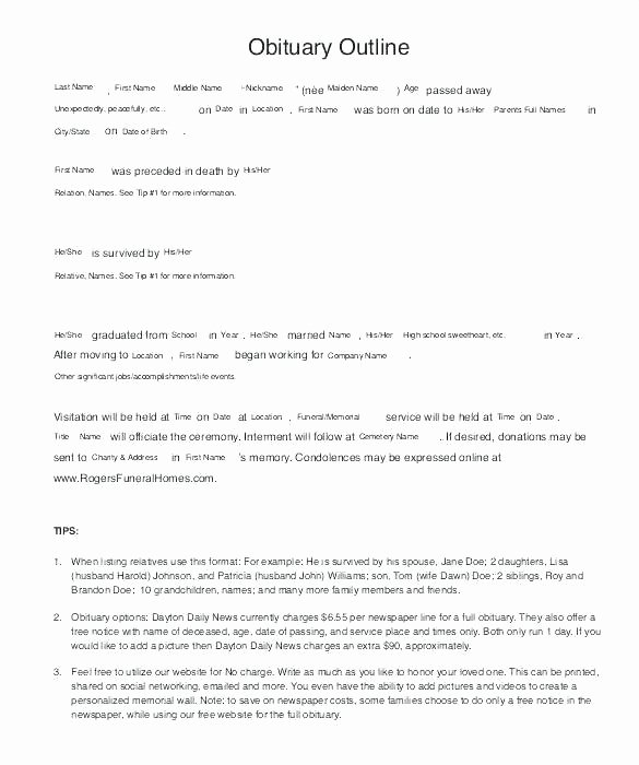 Obituary Template Google Docs Fresh Footprints Funeral Flyer Sheets Template Brochure Google