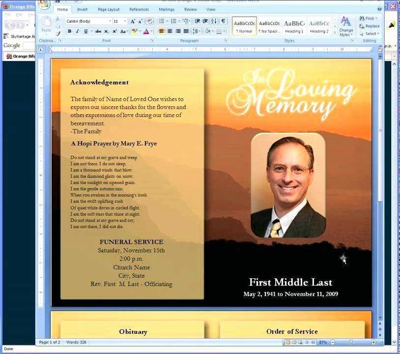 Obituary Template Google Docs Luxury 8 9 Free Templates for Obituary Programs