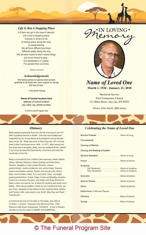 Obituary Template Google Docs Luxury Funeral Program Templates Free Best Memorial Service