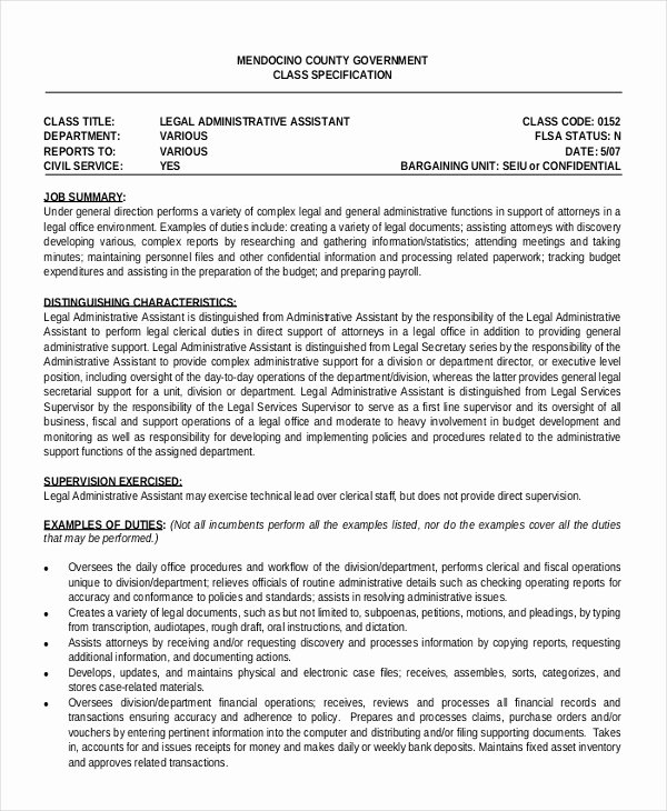 Office assistant Resume Template Awesome 6 Legal Administrative assistant Resume Templates