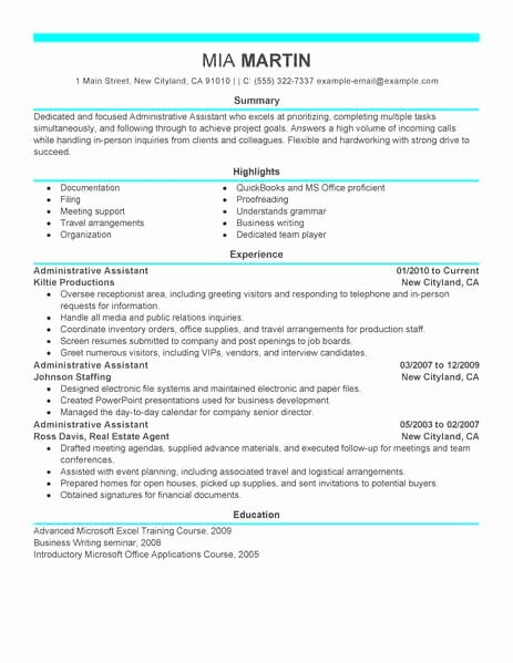 Office assistant Resume Template Beautiful 16 Amazing Admin Resume Examples
