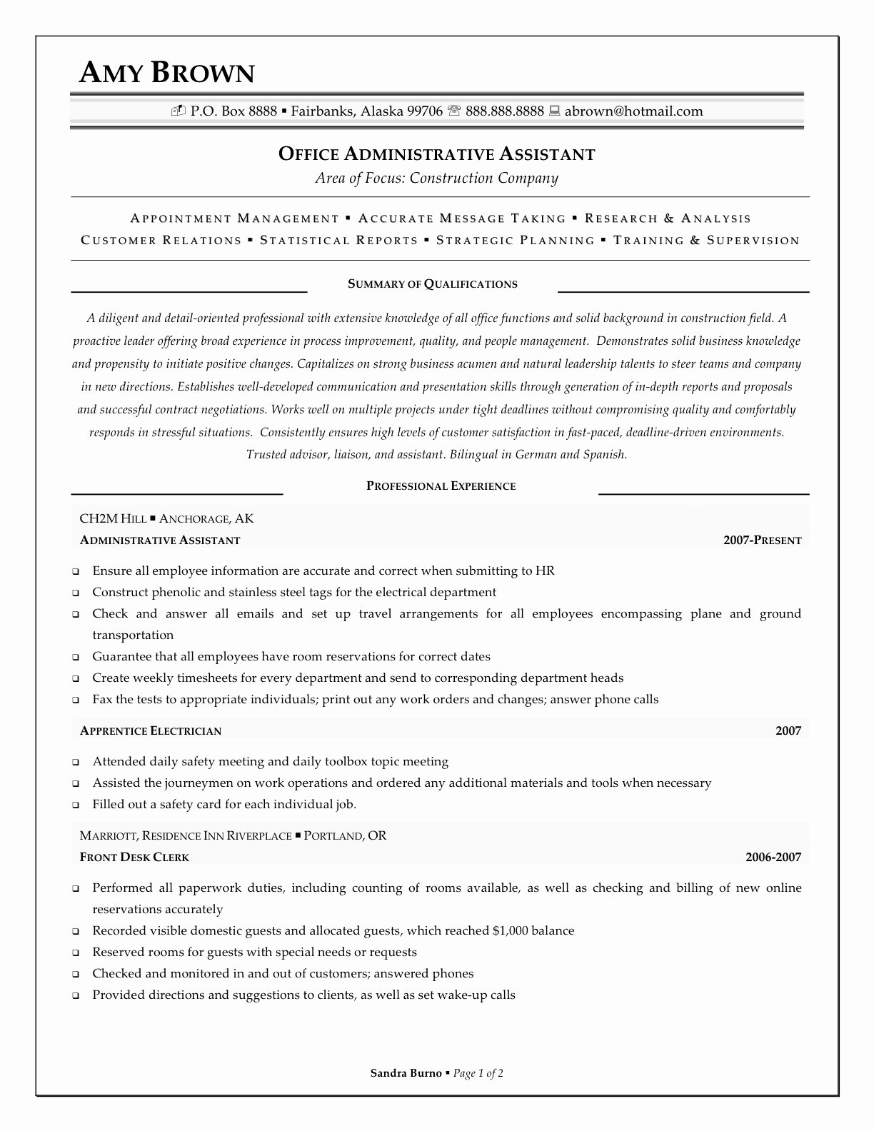 Office assistant Resume Template Best Of Professional Fice assistant Resume