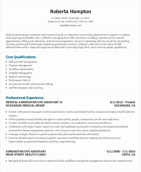 Office assistant Resume Template New 10 Executive Administrative assistant Resume Templates