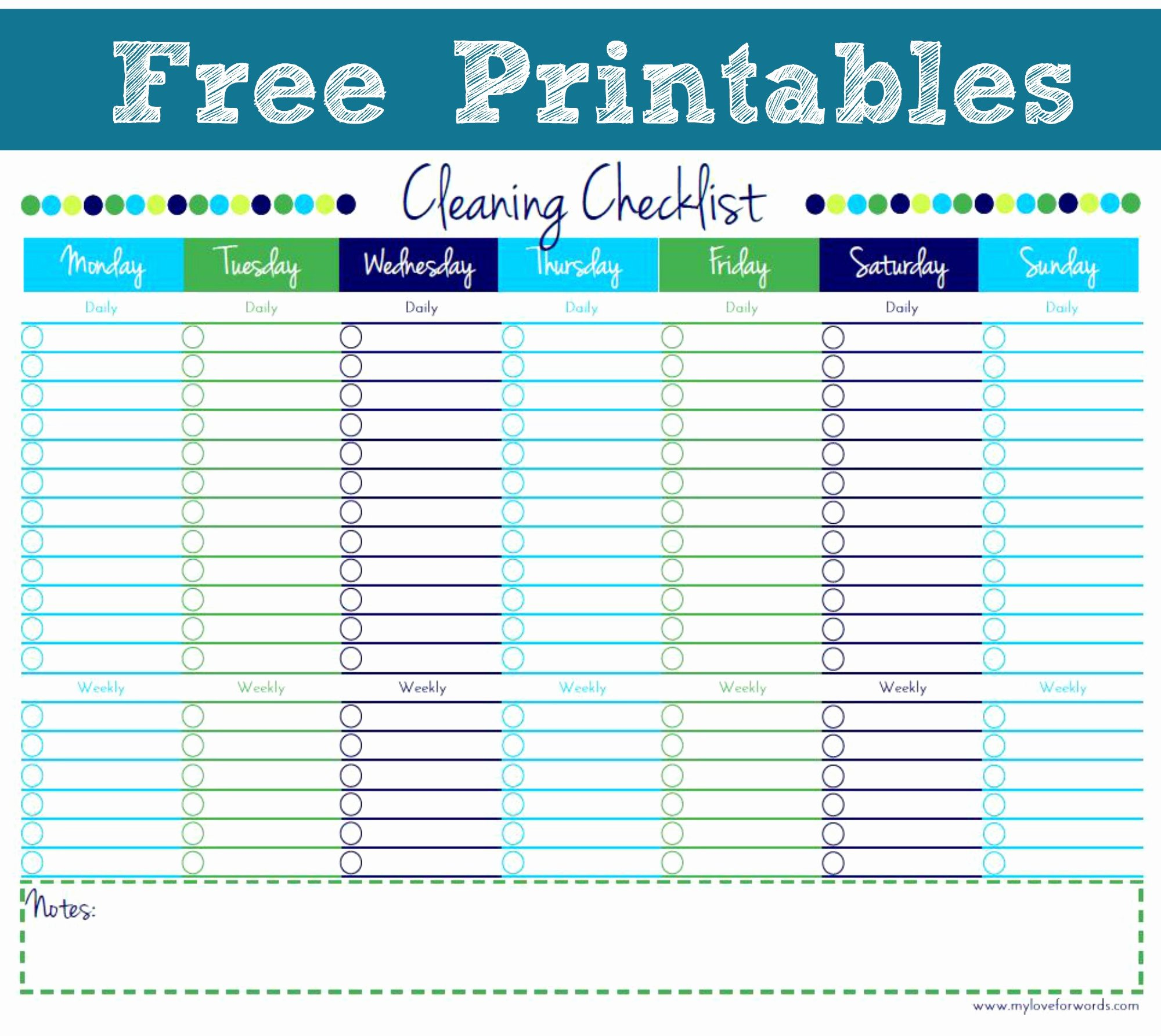 Office Cleaning Checklist Template Elegant Artsy Corner Link Party