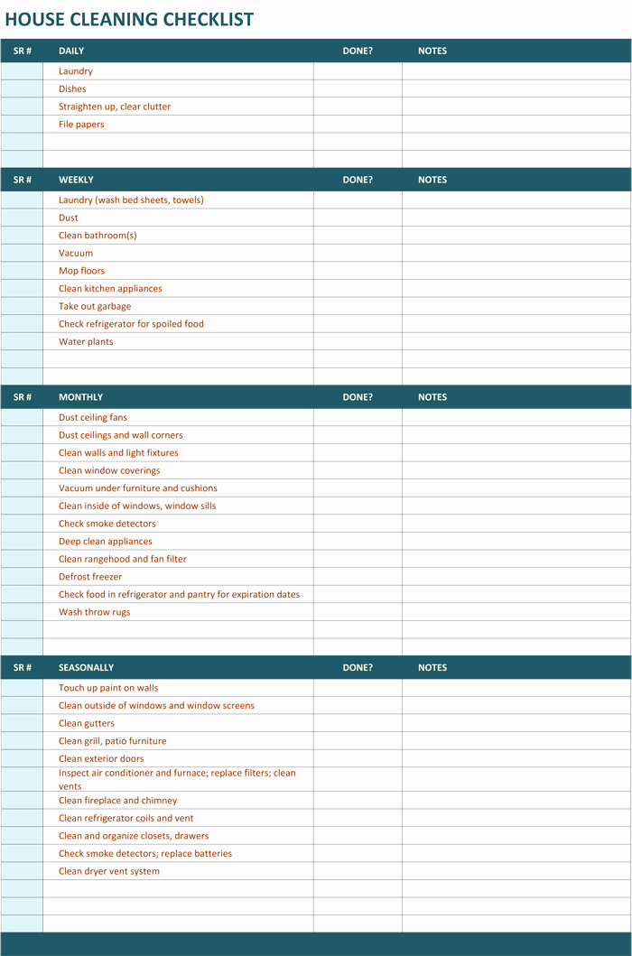 Office Cleaning Checklist Template Inspirational House Cleaning Checklist Template to Unify Perfect Cleaning