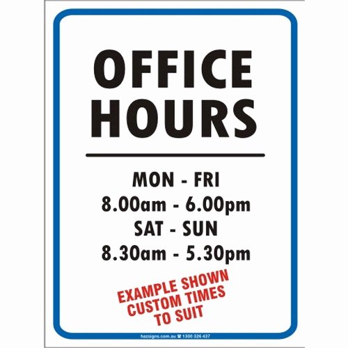 Office Hours Sign Template Best Of Fice Hours Sign Clip Art – Cliparts